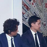 Da sinistra: l'editore Sandro Teti e Almasbek Zhumadilov