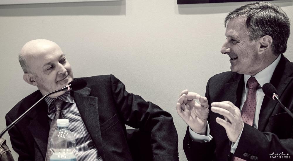 Da sinistra: Giuseppe Di Leo e l'autore Marco Forneris