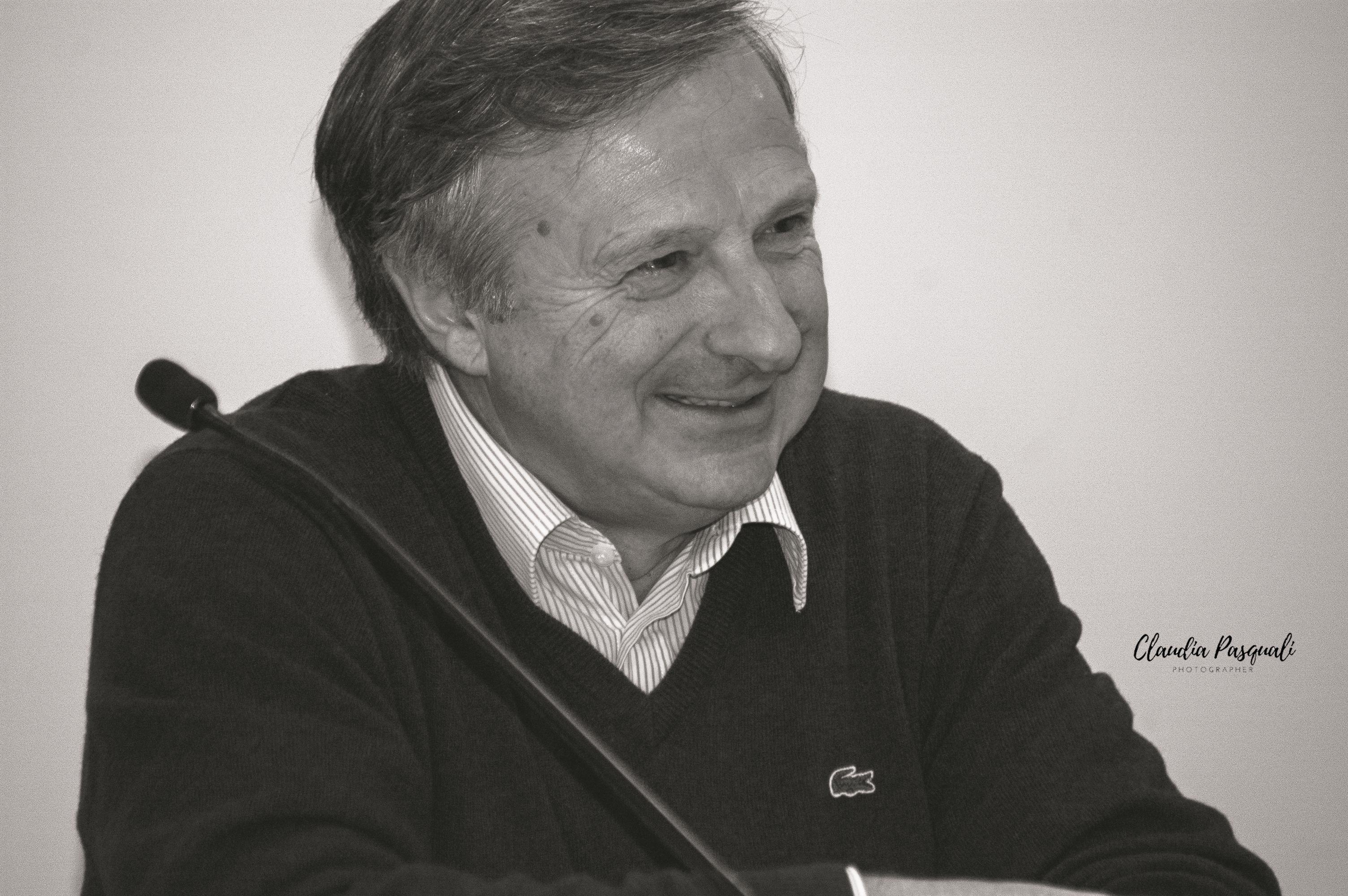 """Presentazione del libro di Marco Forneris """"Il nodo di seta"""" a Più Libri Più Liberi. Nella foto: l'autore Marco Forneris.."""