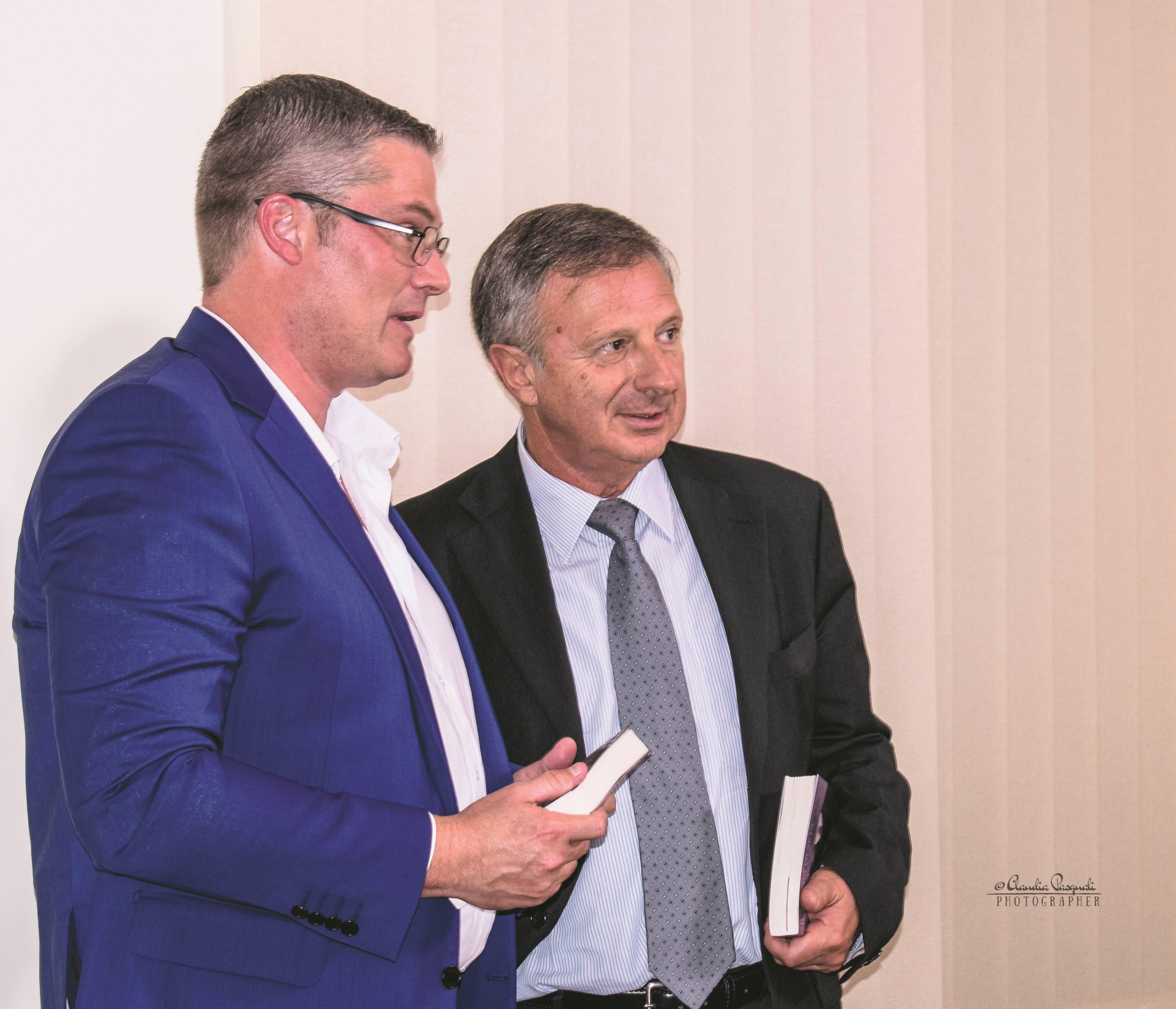Morten Lehn, General Manager Italy di Kaspersky Lab e l'autore Marco Forneris.
