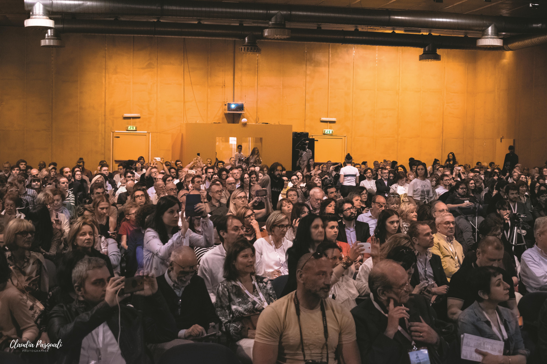 """Presentazione del libro """"Zona industriale"""" di Eduard Limonov presso il Salone del libro di Torino. Il pubblico."""