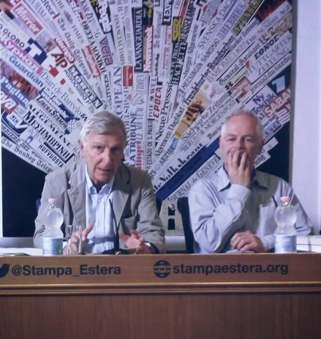 Da sinistra: Giudo Fabiani e philip willan