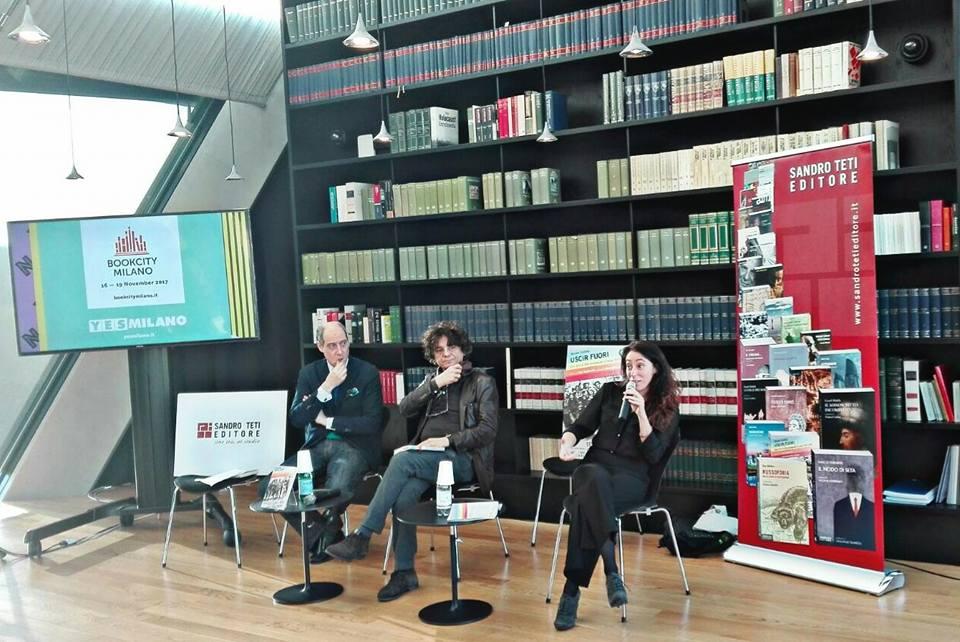 Da sinistra: Fabrizio Petri; L'editore Sandro Teti e Francesca Vecchioni
