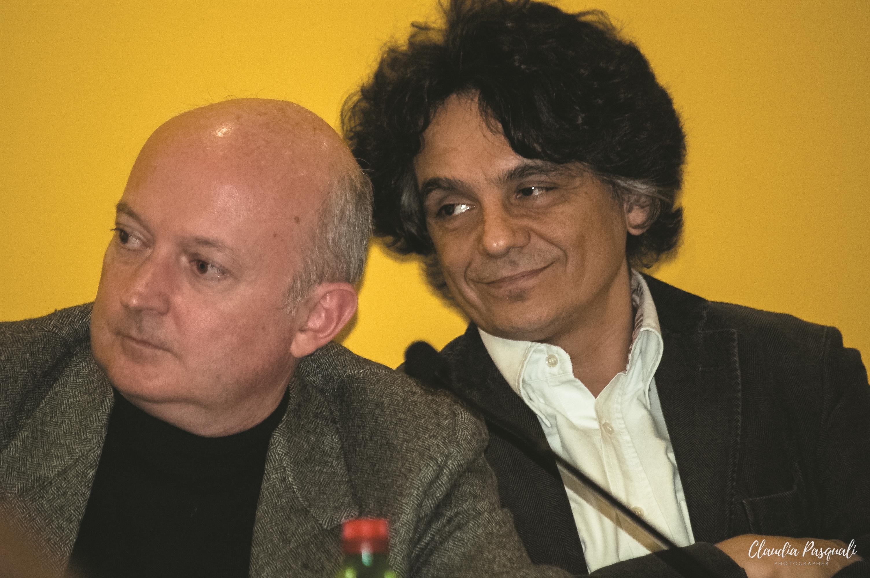 """Presentazione del libro di Vittorio Russo """"Transiberiana"""" a Più Libri Più Liberi. Nella foto: Giuseppe Di Leo e l'editore Sandro Teti."""