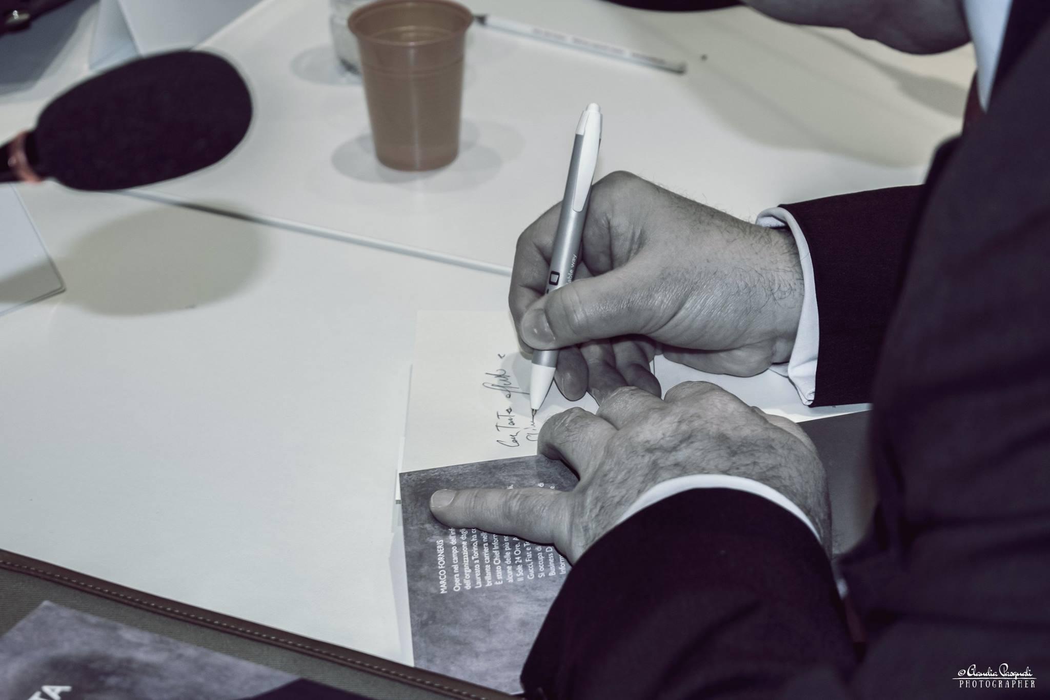 Il firmacopie dell'autore