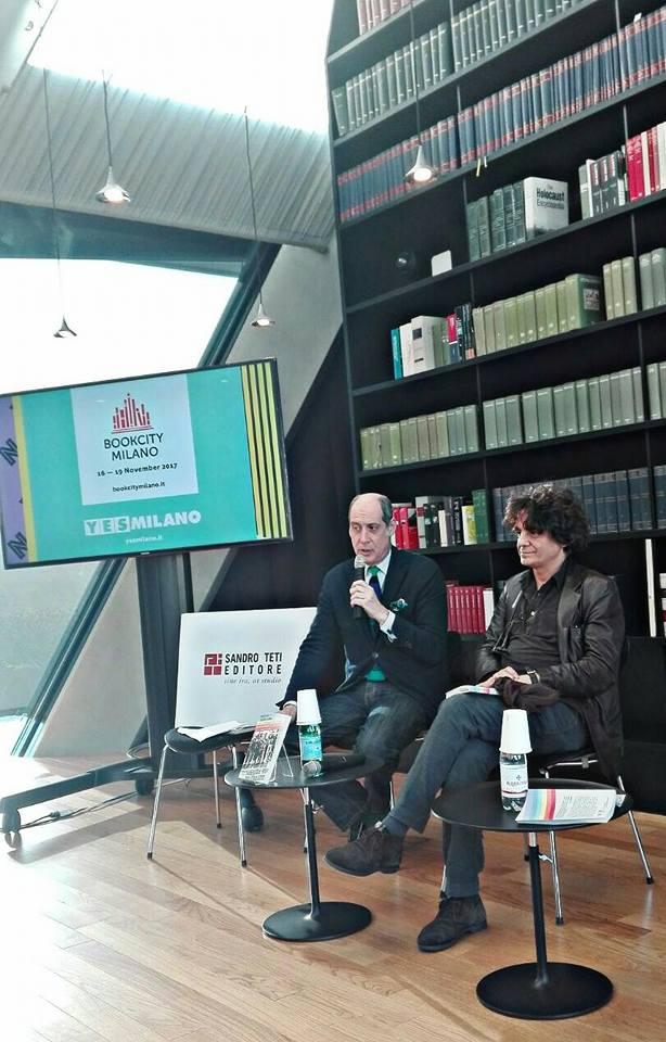 Nella foto: Fabrizio Petri e l'editore Sandro Teti