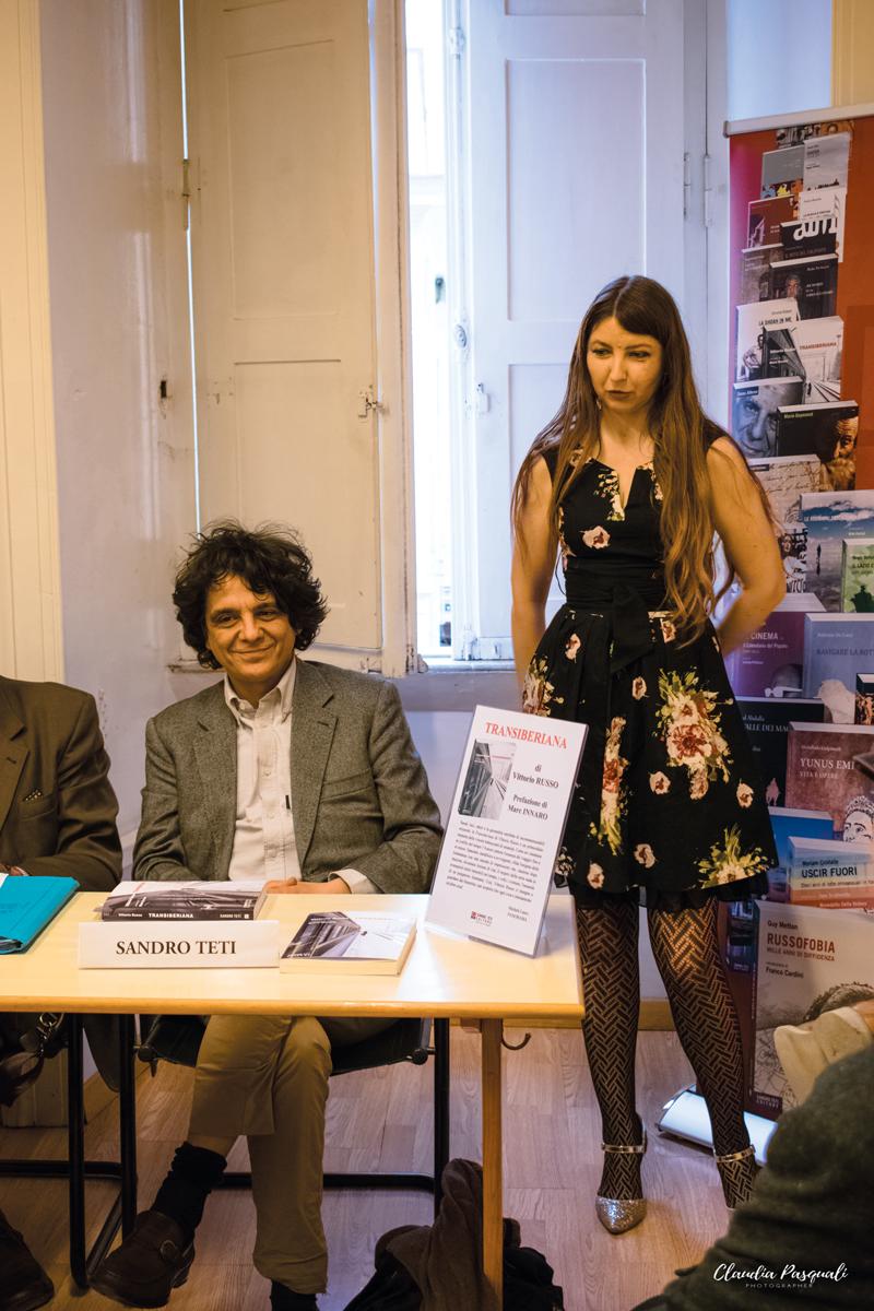 Presentazione del libro Transiberiana di Vittorio Russo. L'editore Sandro Teti e Olga Matsyna