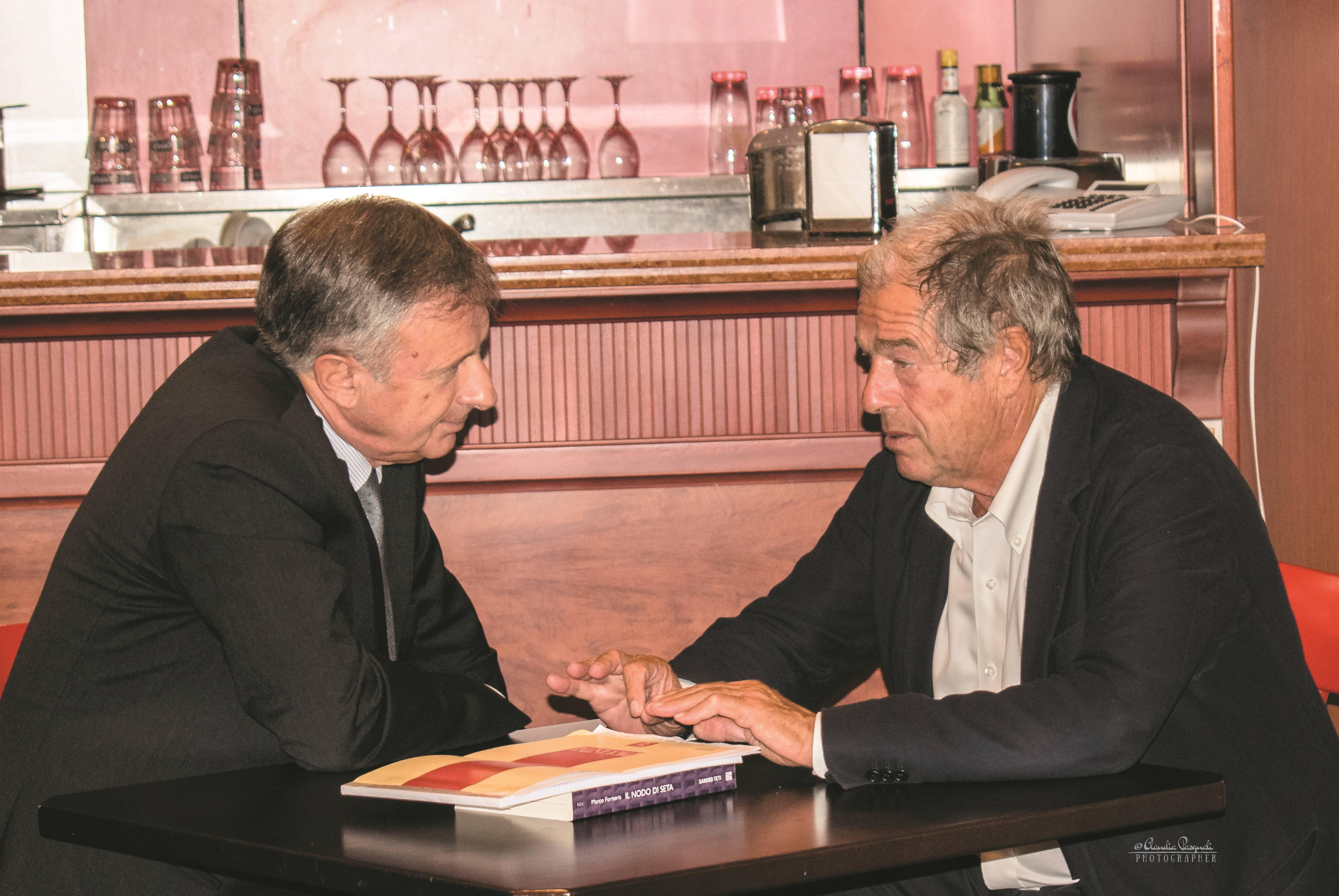 Marco Forneris e Giovanni Minoli