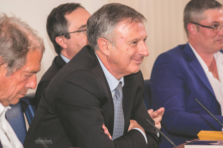 Da sinistra: Giovanni Minoli; l'autore Marco Forneris; Giovanni Russo e Morten Lehn