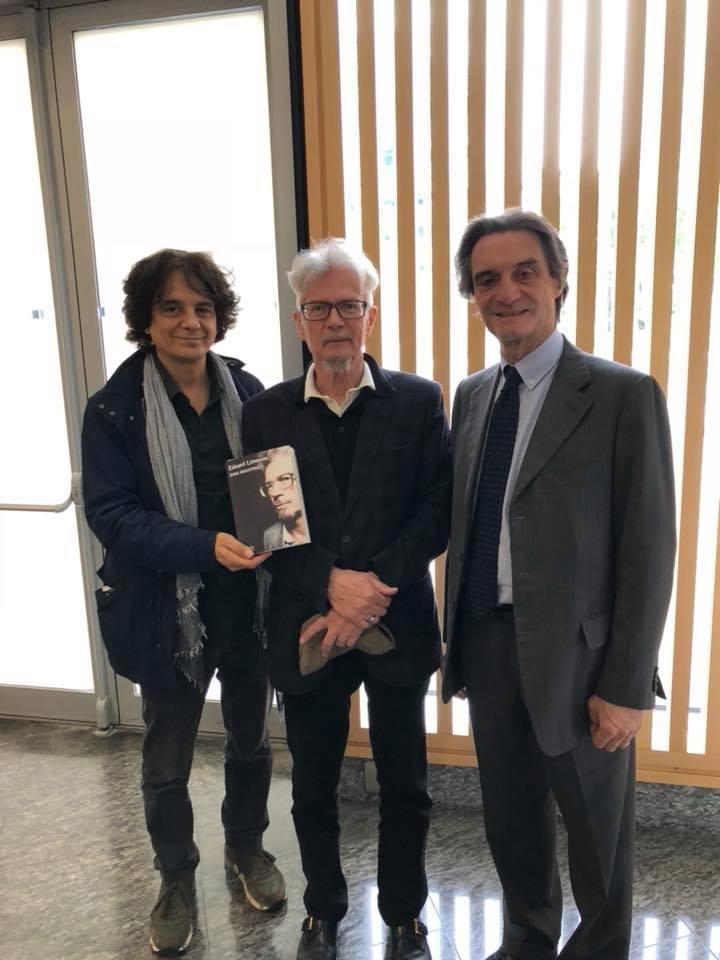 """Presentazione del libro """"Zona industriale"""" di Eduard Limonov presso il Palazzo Pirelli a Milano."""