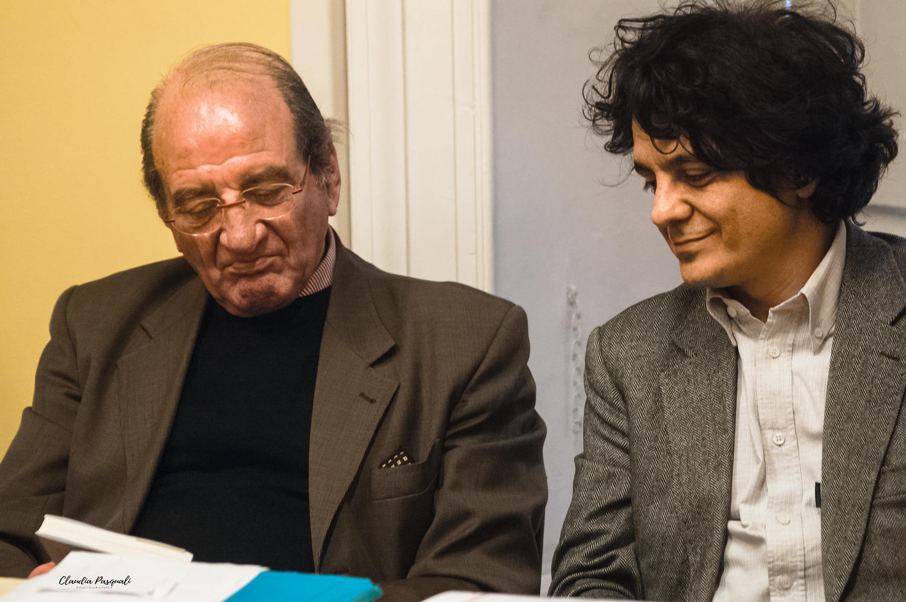 Presentazione del libro Transiberiana di Vittorio Russo. Da sinistra: Vittorio Russo e l'editore Sandro Teti