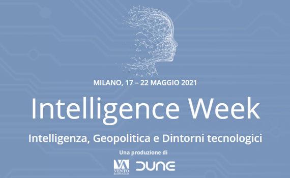 I nostri appuntamenti all'Intelligence week // 17-22 maggio